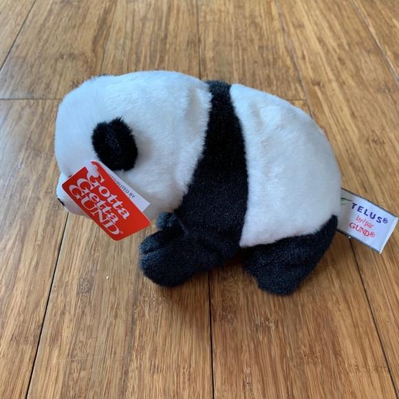 NWT Gund Telus Panda Bear Stuffed Animal